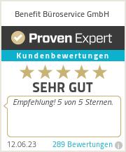Erfahrungen & Bewertungen zu Benefit Büroservice GmbH
