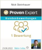 Erfahrungen & Bewertungen zu Nick Steinhauer