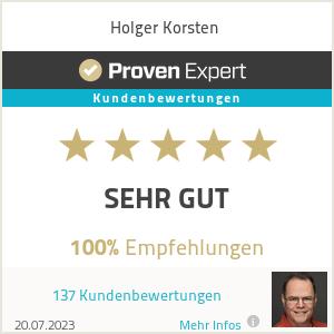 Erfahrungen & Bewertungen zu Holger Korsten