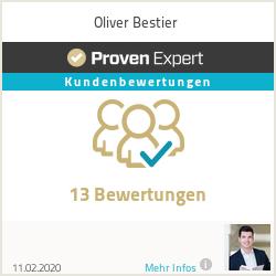 Erfahrungen & Bewertungen zu Oliver Bestier