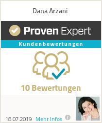 Erfahrungen & Bewertungen zu Dana Arzani