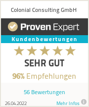 Erfahrungen & Bewertungen zu Colonial Consulting GmbH