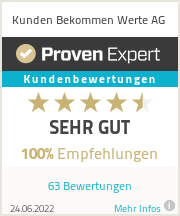 Erfahrungen & Bewertungen zu Kunden Bekommen Werte AG