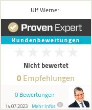Erfahrungen & Bewertungen zu Ulf Werner