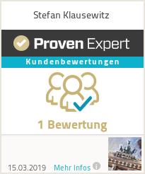 Erfahrungen & Bewertungen zu Stefan Klausewitz