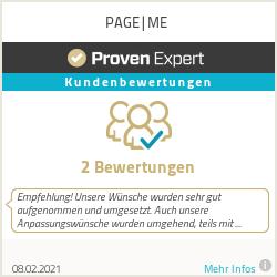 Erfahrungen & Bewertungen zu PAGE|ME