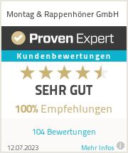 Erfahrungen & Bewertungen zu Montag & Rappenhöner GmbH