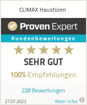 Erfahrungen & Bewertungen zu CLIMAX Haustüren