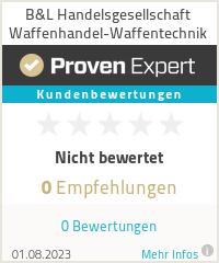 Erfahrungen & Bewertungen zu B&L Handelsgesellschaft  Waffenhandel-Waffentechnik