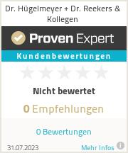 Erfahrungen & Bewertungen zu Dr. Hügelmeyer + Dr. Reekers & Kollegen