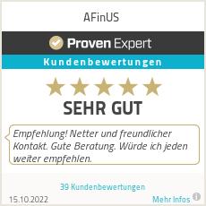 Erfahrungen & Bewertungen zu AFinUS