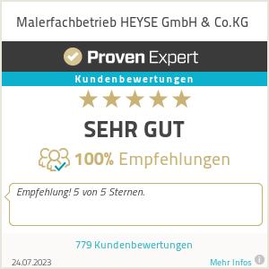 Erfahrungen & Bewertungen zu Malerfachbetrieb HEYSE GmbH & Co.KG