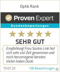 Erfahrungen & Bewertungen zu Optik Rank e.K. Inh. Thomas Henze