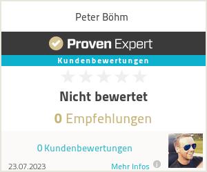 Erfahrungen & Bewertungen zu Peter Böhm