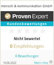 Erfahrungen & Bewertungen zu mensch & kommunikation GmbH