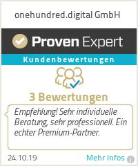 Erfahrungen & Bewertungen zu onehundred.digital GmbH