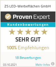 Erfahrungen & Bewertungen zu ZS LED-Werbeflächen GmbH