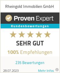 Erfahrungen & Bewertungen zu Rheingold Immobilien GmbH