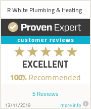 Ratings & reviews for R White Plumbing & Heating