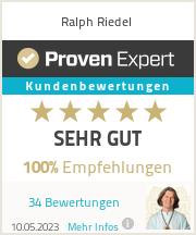 Erfahrungen & Bewertungen zu Ralph Riedel