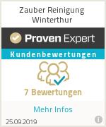 Erfahrungen & Bewertungen zu Zauber Reinigung Winterthur