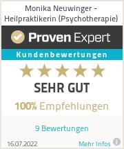 Erfahrungen & Bewertungen zu Monika Neuwinger - Heilpraktikerin (Psychotherapie)