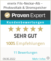Erfahrungen & Bewertungen zu enerix Fils-Neckar-Alb - Photovoltaik & Stromspeicher