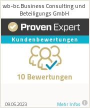 Erfahrungen & Bewertungen zu wb-bc.Business Consulting und Beteiligungs GmbH