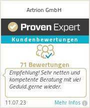 Erfahrungen & Bewertungen zu Artrion GmbH