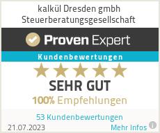 Erfahrungen & Bewertungen zu kalkül Dresden gmbh Steuerberatungsgesellschaft