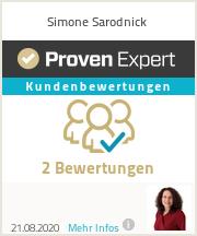 Erfahrungen & Bewertungen zu Simone Sarodnick