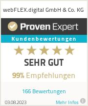 Erfahrungen & Bewertungen zu webFLEX media e.K.