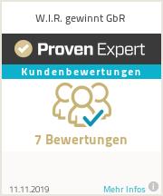 Erfahrungen & Bewertungen zu W.I.R. gewinnt GbR