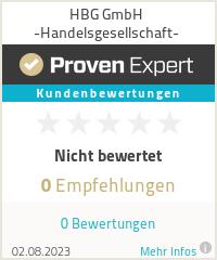 Erfahrungen & Bewertungen zu HBG GmbH -Handelsgesellschaft-