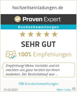 Erfahrungen & Bewertungen zu hochzeitseinladungen.de