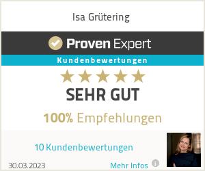 Erfahrungen & Bewertungen zu Isa Grütering