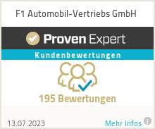 Erfahrungen & Bewertungen zu F1 Automobil-Vertriebs GmbH