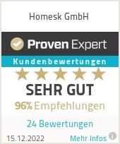 Erfahrungen & Bewertungen zu Homesk GmbH