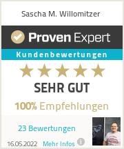 Erfahrungen & Bewertungen zu Sascha M. Willomitzer