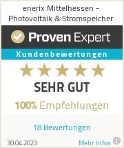 Erfahrungen & Bewertungen zu enerix Mittelhessen - Photovoltaik & Stromspeicher