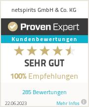 Erfahrungen & Bewertungen zu netspirits GmbH & Co. KG