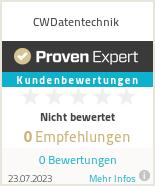 Erfahrungen & Bewertungen zu CWDatentechnik