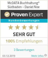 Erfahrungen & Bewertungen zu McDATA Buchhaltung* Südbaden - Daniel Noe