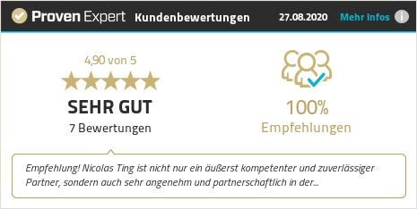Kundenbewertungen & Erfahrungen zu Nicolas Ting. Mehr Infos anzeigen.