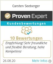 Erfahrungen & Bewertungen zu Carsten Seeberger
