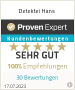 Erfahrungen & Bewertungen zu Detektei Hans