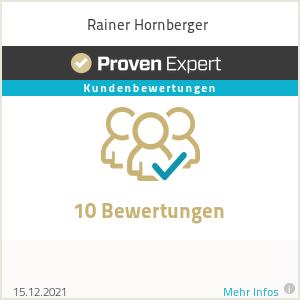 Erfahrungen & Bewertungen zu Rainer Hornberger