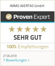 Erfahrungen & Bewertungen zu IMMO.WERTAS GmbH