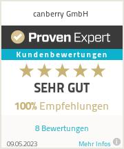 Erfahrungen & Bewertungen zu canberry GmbH