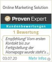 Erfahrungen & Bewertungen zu Online Marketing Solution